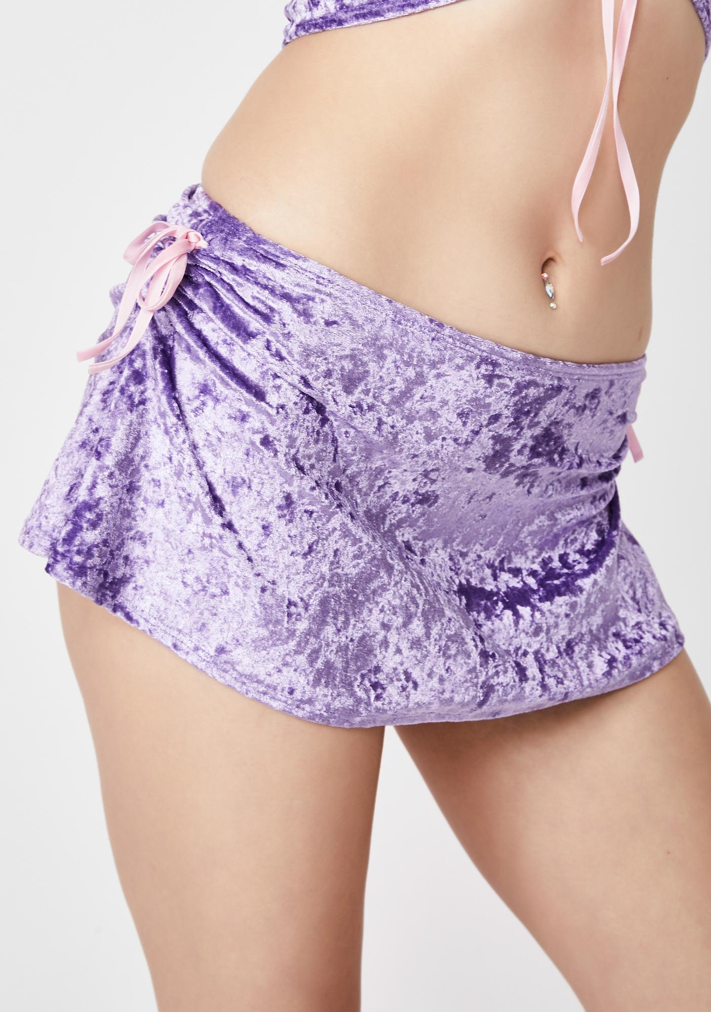 Sugar Thrillz Stars Are Blind Velvet Skirt
