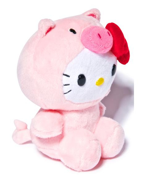Farm Friends Hello Kitty Pig Plush