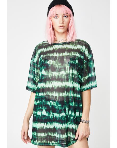 Tie Dye Sunny Kiss Tee Dress