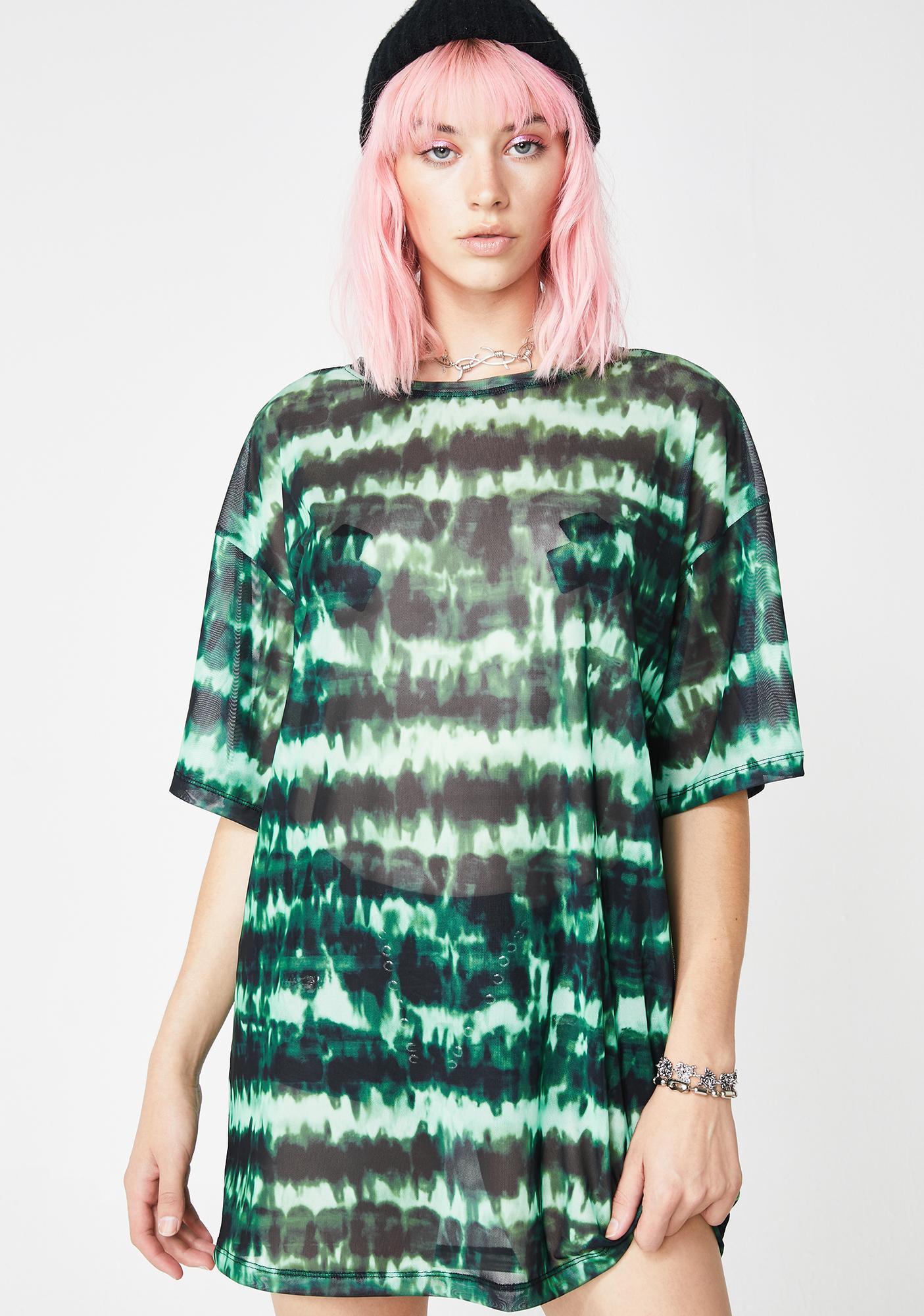 Motel Tie Dye Sunny Kiss Tee Dress