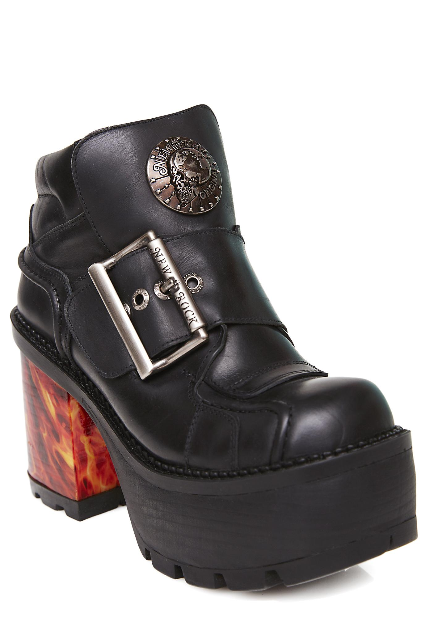 New Rock Firewalker Platform Ankle Boots