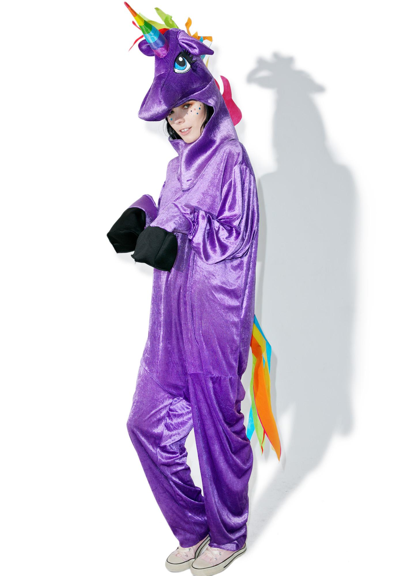 Purple Unicorn Adult Onesie Dolls Kill