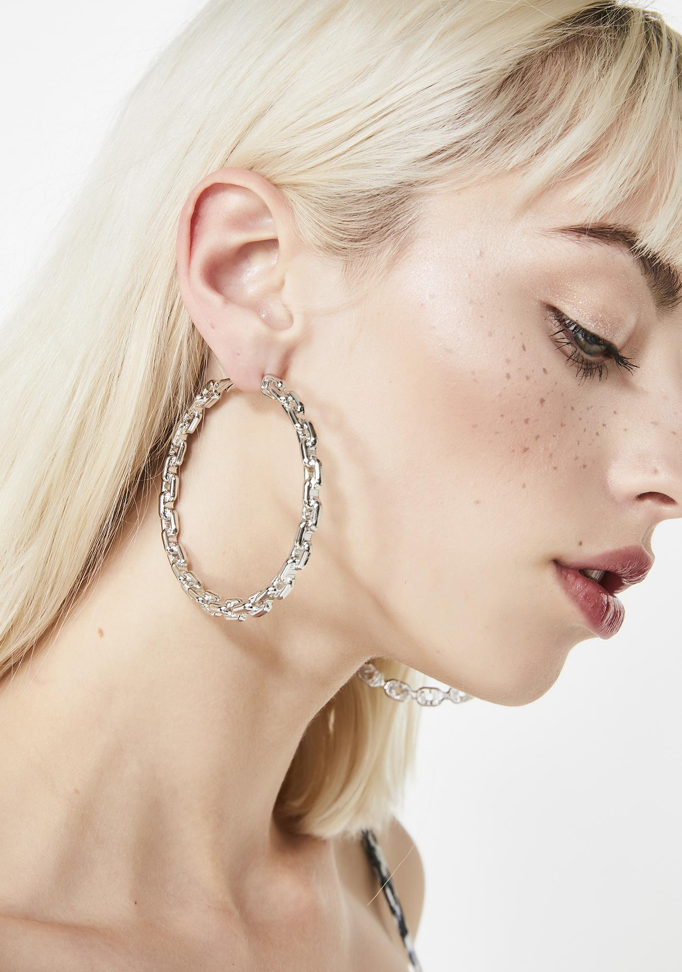 63fca8796 Chain Link Hoop Earrings | Dolls Kill