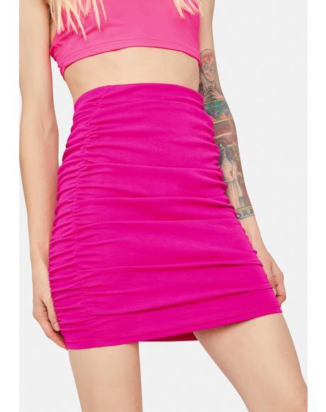 Baby Bang Bang Bang Ruched Bodycon Mini Skirt