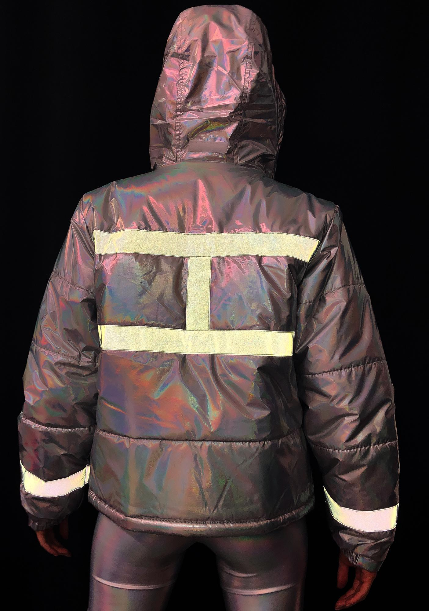 Club Exx Northern Soul Reflective Puffer Jacket