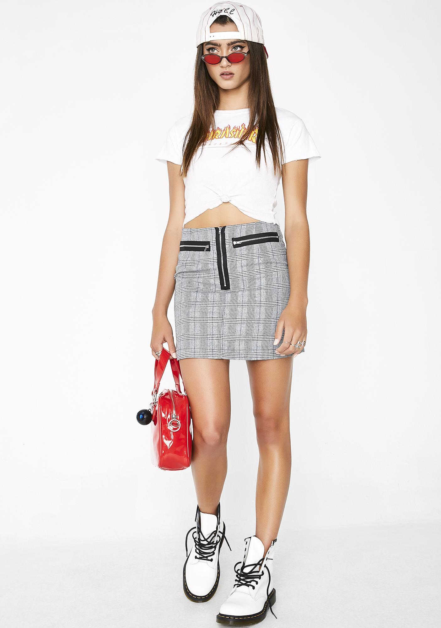 Stay In Skool Plaid Skirt
