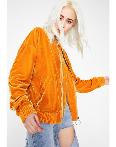 Sweet Like Honey Velvet Jacket
