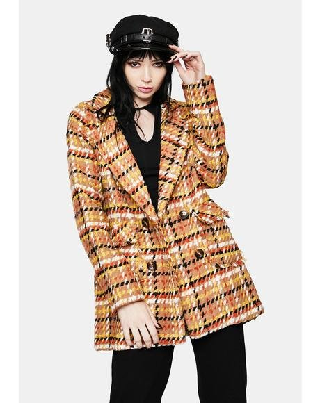 Plaid Boss Tweed Jacket