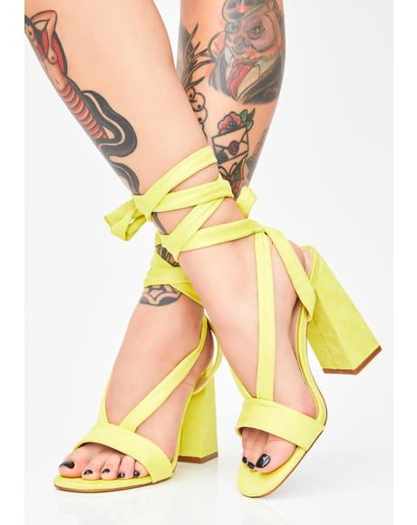 Slime Admire Strappy Suede Heels