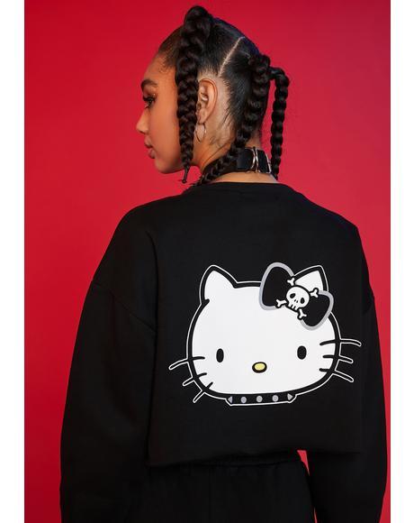 Mischief On My Mind Crop Sweatshirt