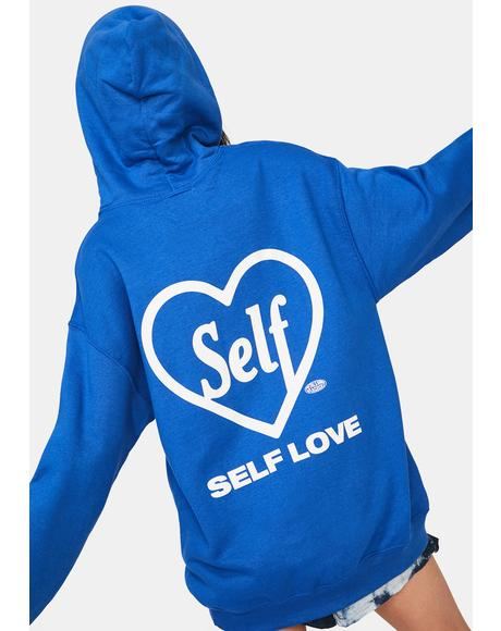 Blue Self Lover Graphic Hoodie Sweatshirt