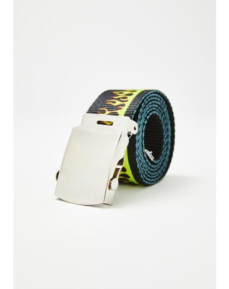 Flaming Bish Canvas Belt