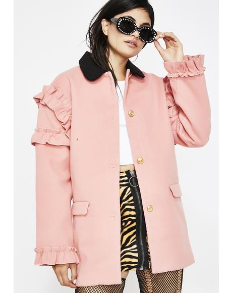 Cute But Psycho Ruffle Coat