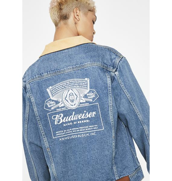 HUF x Budweiser Denim Jacket