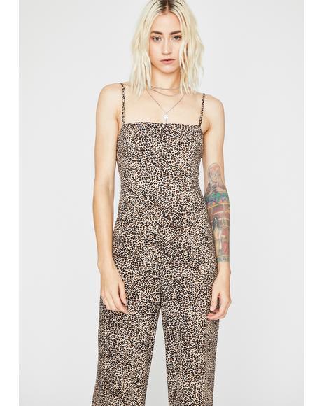 Bad Behavior Leopard Jumpsuit