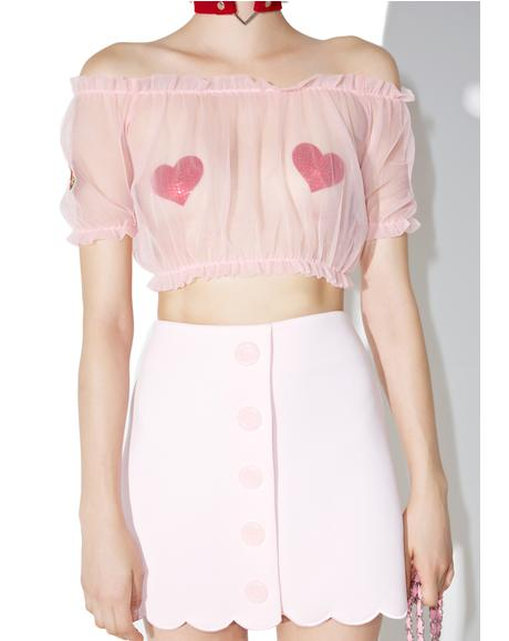Candy Scalloped Trapezoid Skirt