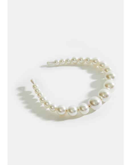 Posh Princess Pearl Bead Headband