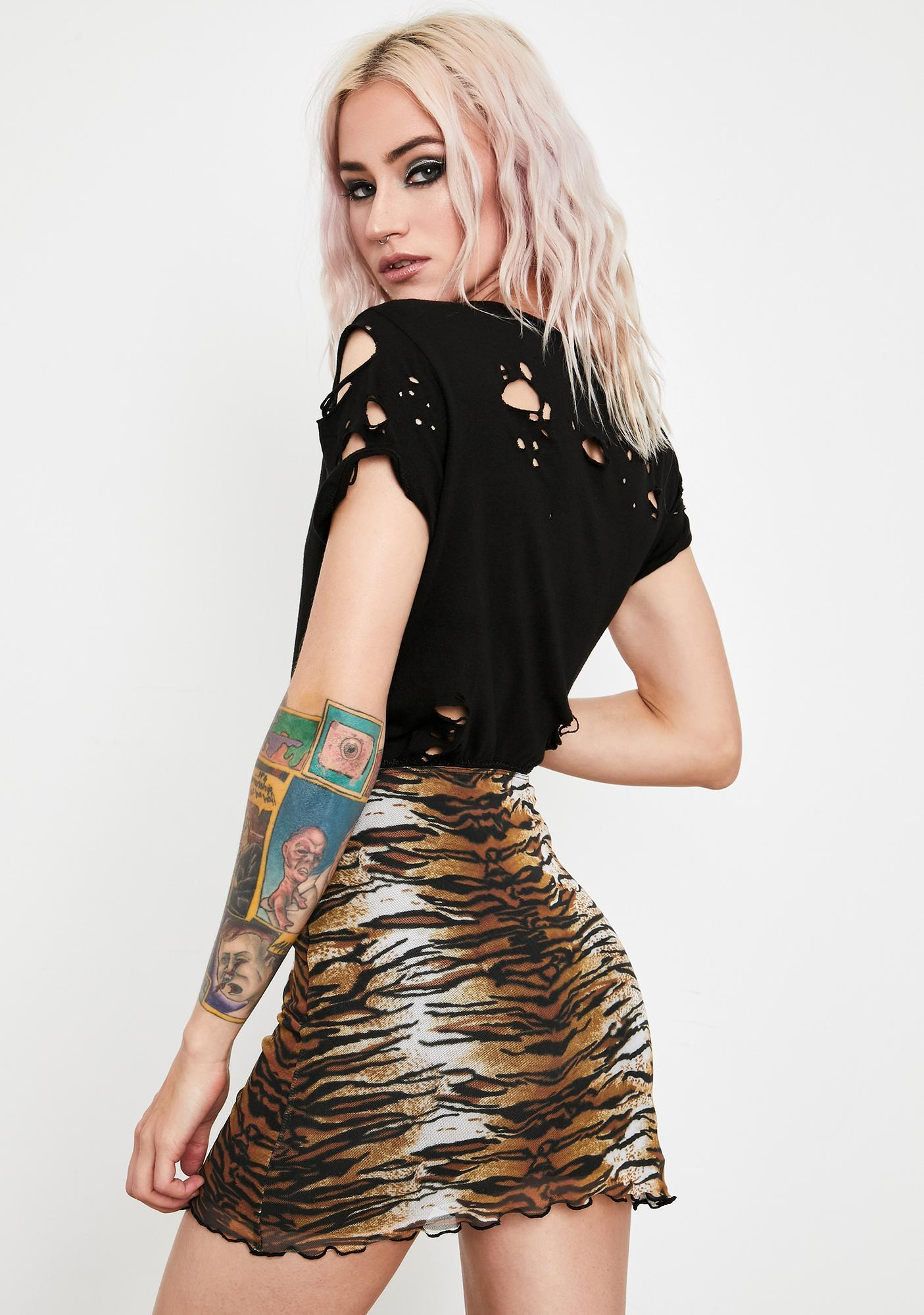 Current Mood Jungle Club Mesh Skirt
