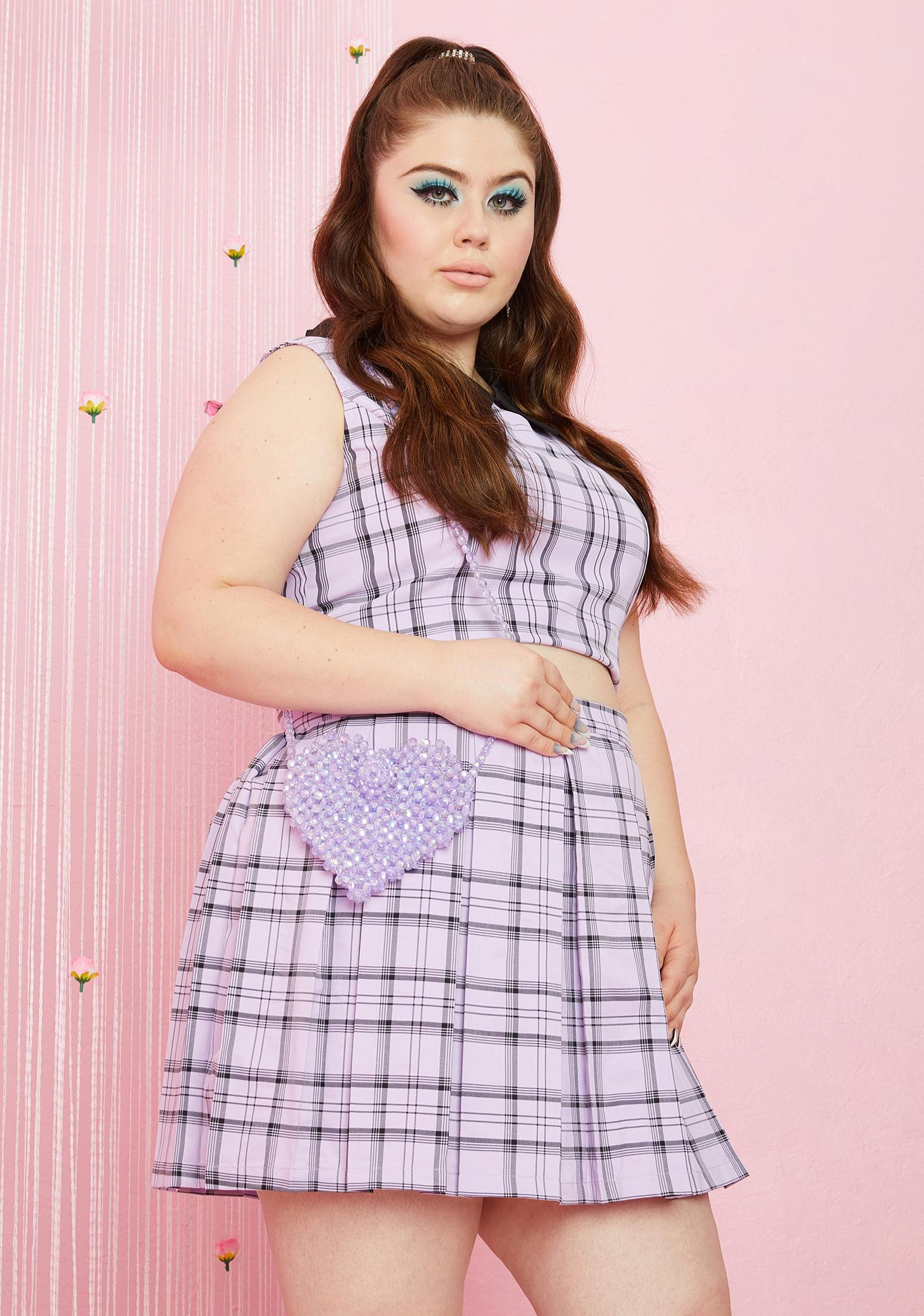 Lilac Love The Attention Beaded Bag
