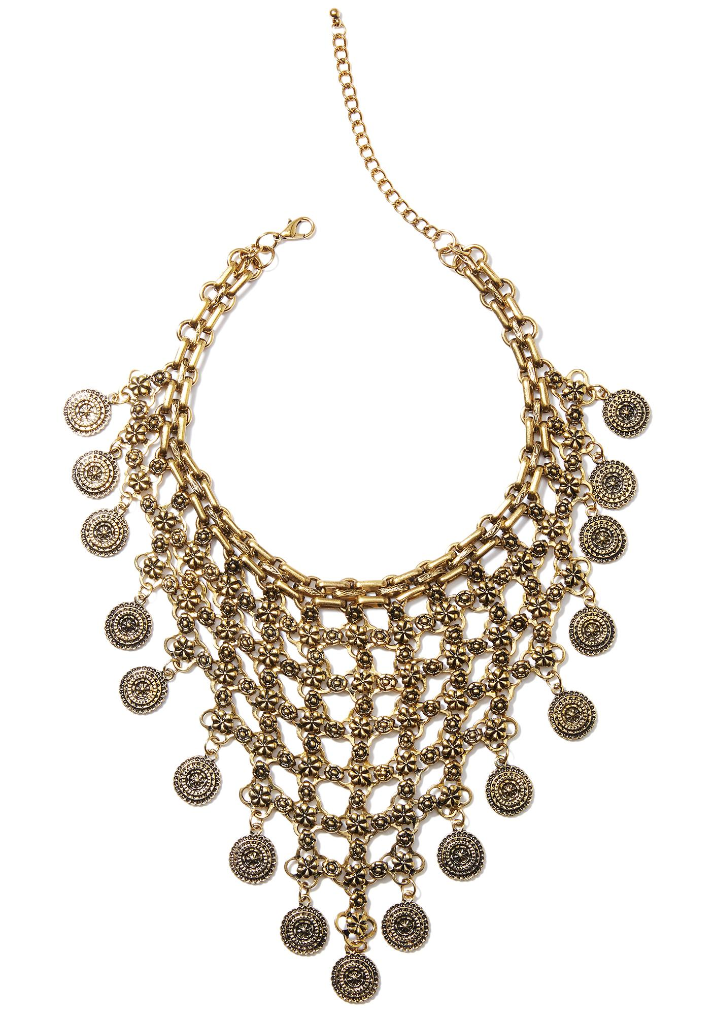 Treasure Chest Gold Necklace