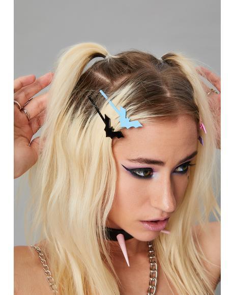 Bubblegum Hellscape Hair Clips
