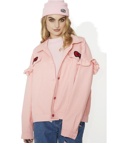 Hello Kitty Frilly Denim Jacket