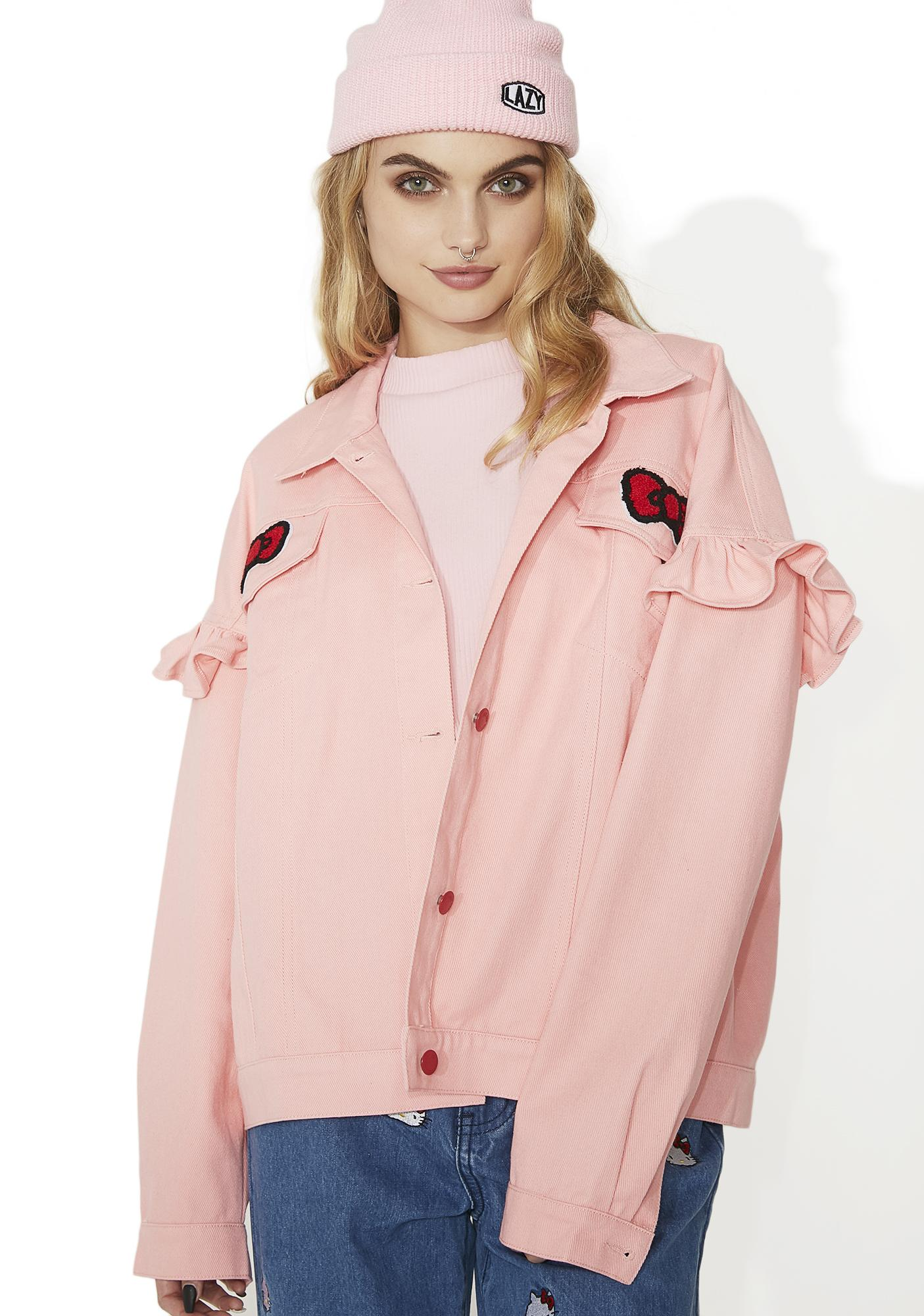 Lazy Oaf Hello Kitty Frilly Denim Jacket