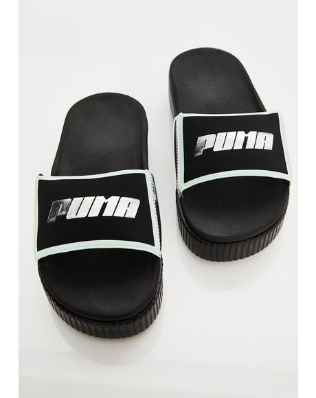 Dark TZ Metallic Wns Platform Slides