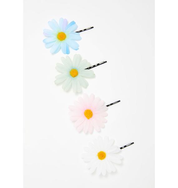 Spring Fling Daisy Bobby Pin Set