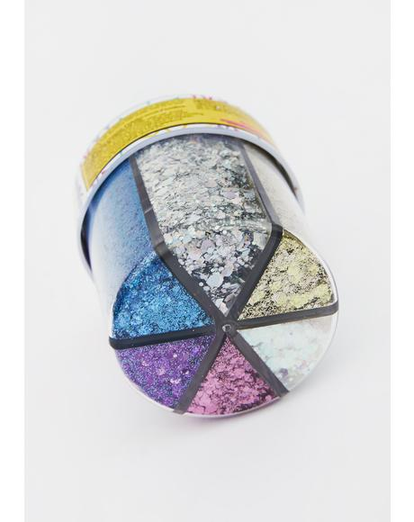 Six Color Glitter Shaker