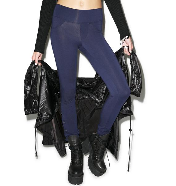 Wildfox Couture Wildfox Couture Scripted Snap Leggings