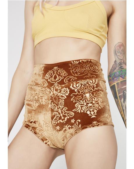 Gold Sophini Shorts