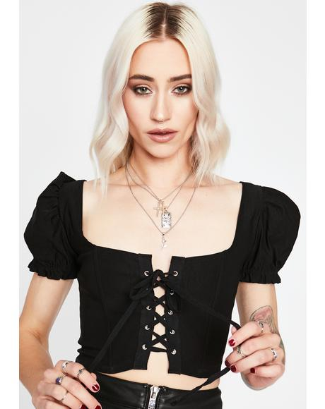 Love Awaits Corset Crop Top