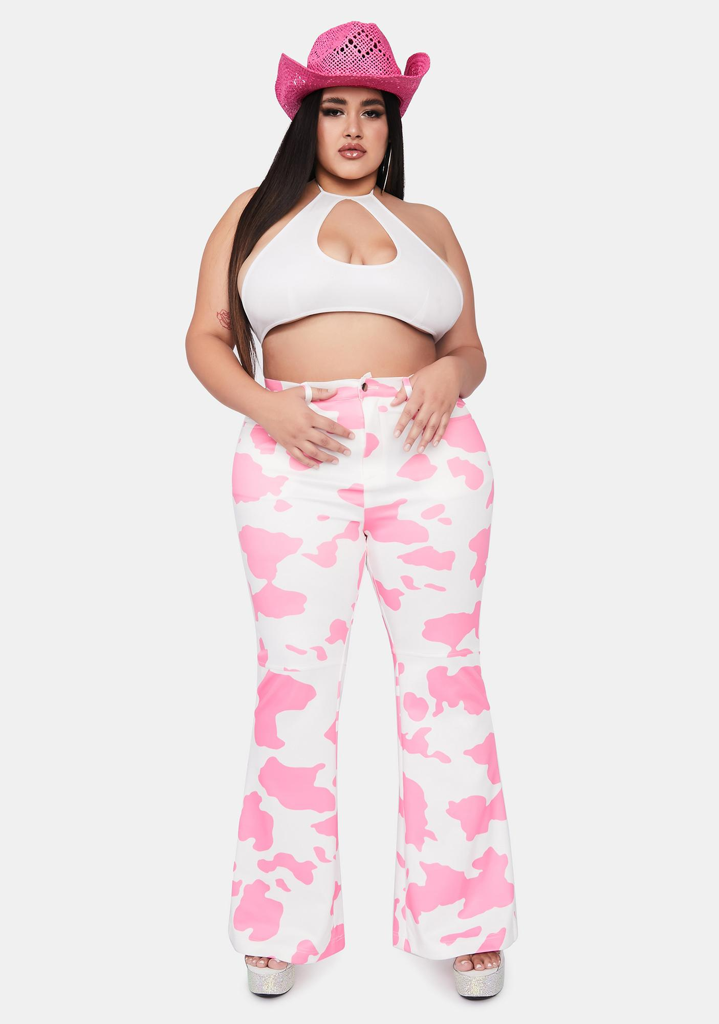 Lady Love Everything's A1 Cow Print Pants