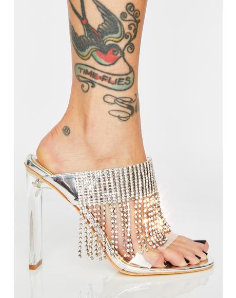 Rose Gold Paypal Rhinestone Heels