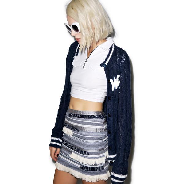 Fringe With Benefits Denim Skirt