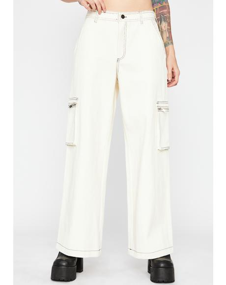 Bone Hard Knox Contrast Stitch Jeans