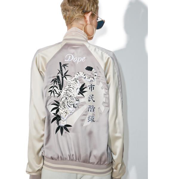 DOPE White Tiger Souvenir Jacket
