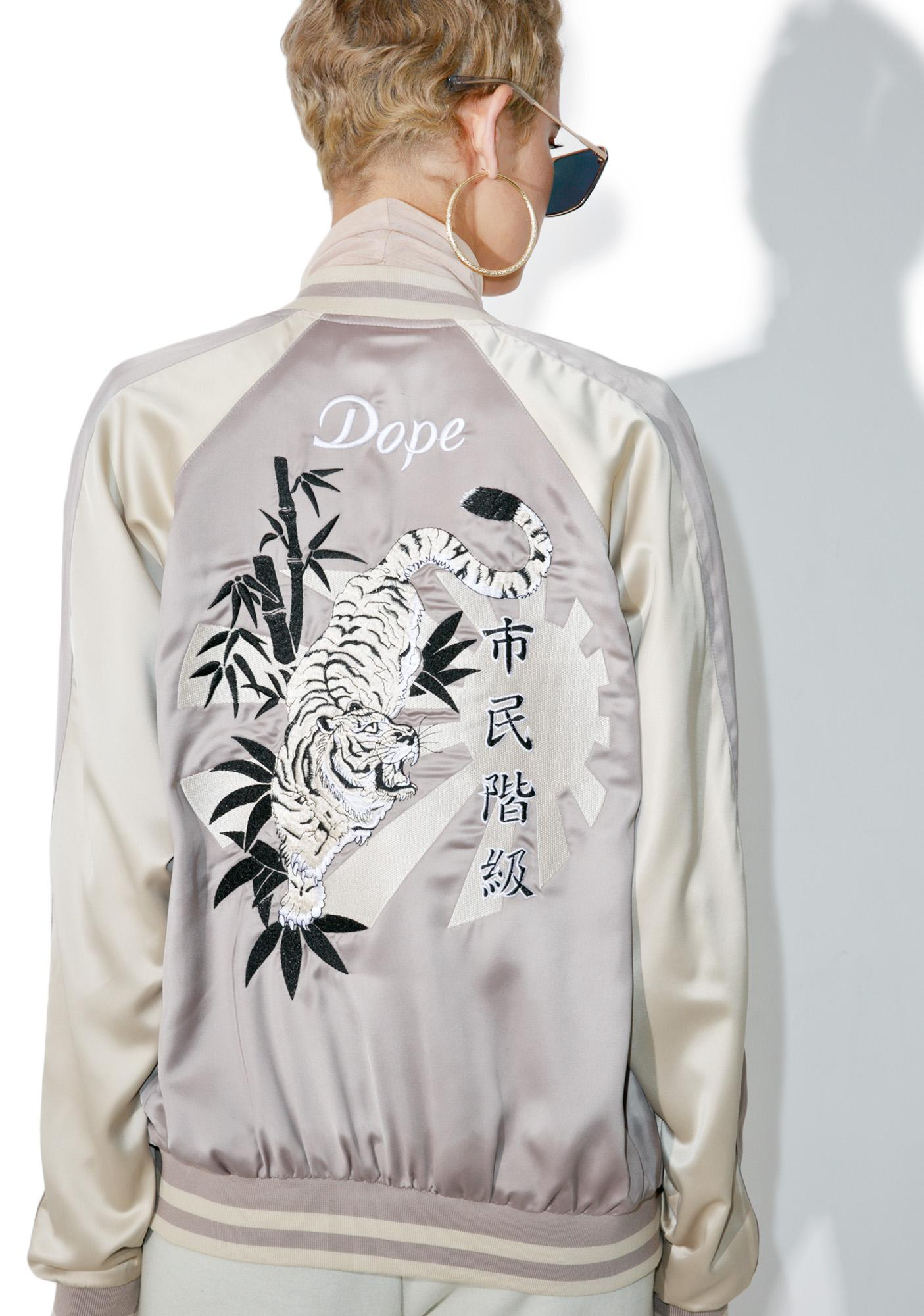 DOPE White Tiger Souvenir Jacket