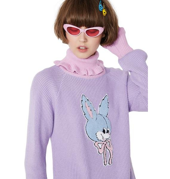 Lazy Oaf Blue Bunny Sweater
