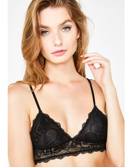 Midnight Touch Of Envy Lace Bralette