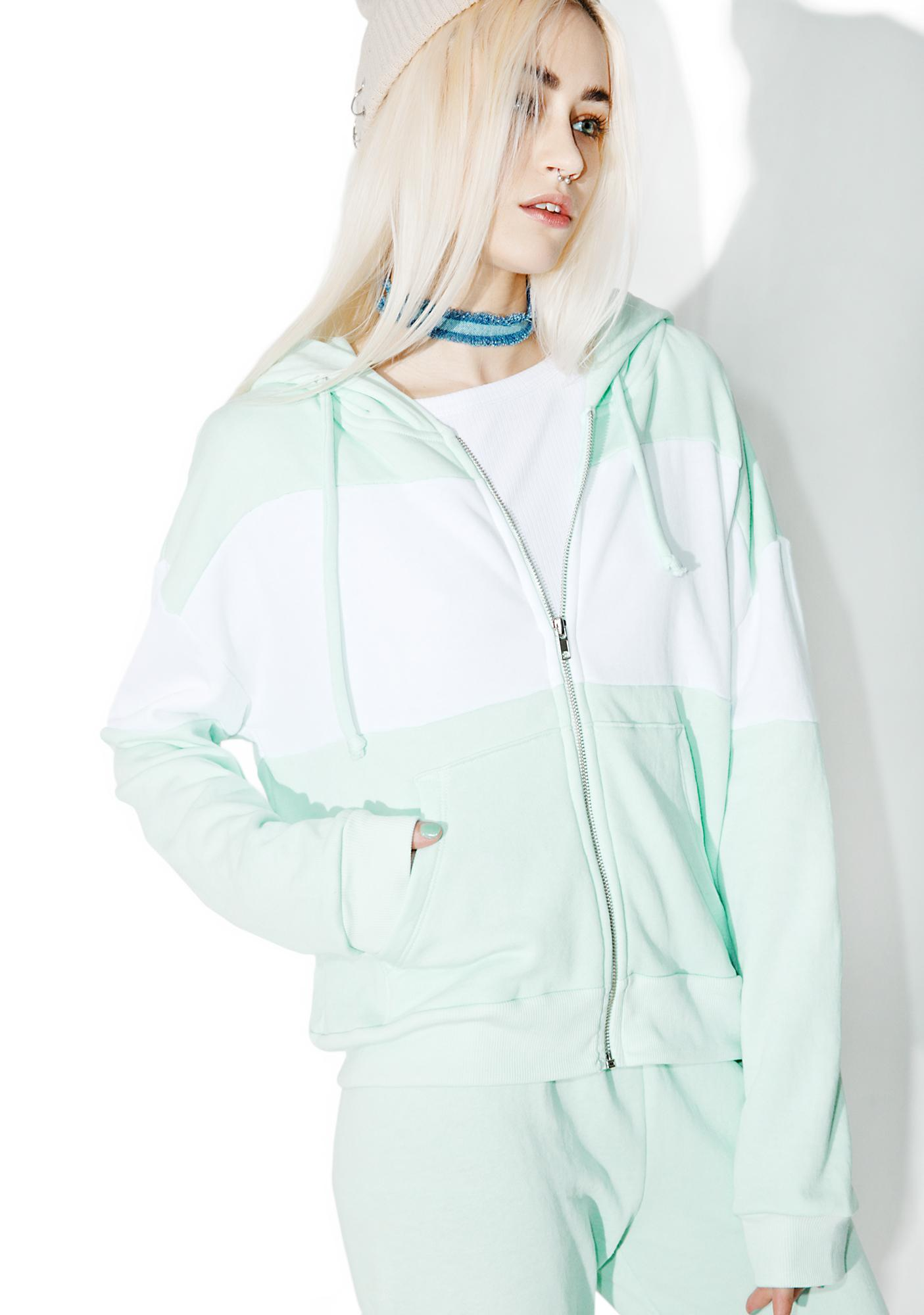 Wildfox Couture Blocked Marquis Zip Hoodie