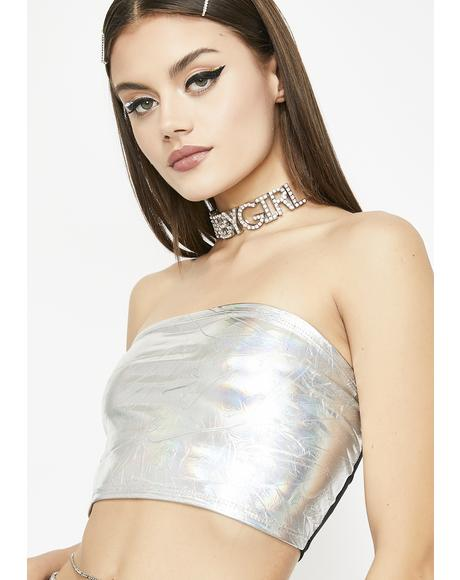 Celestial Chick Holographic Bandeau
