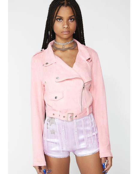 Berry Bitty Babe Moto Jacket