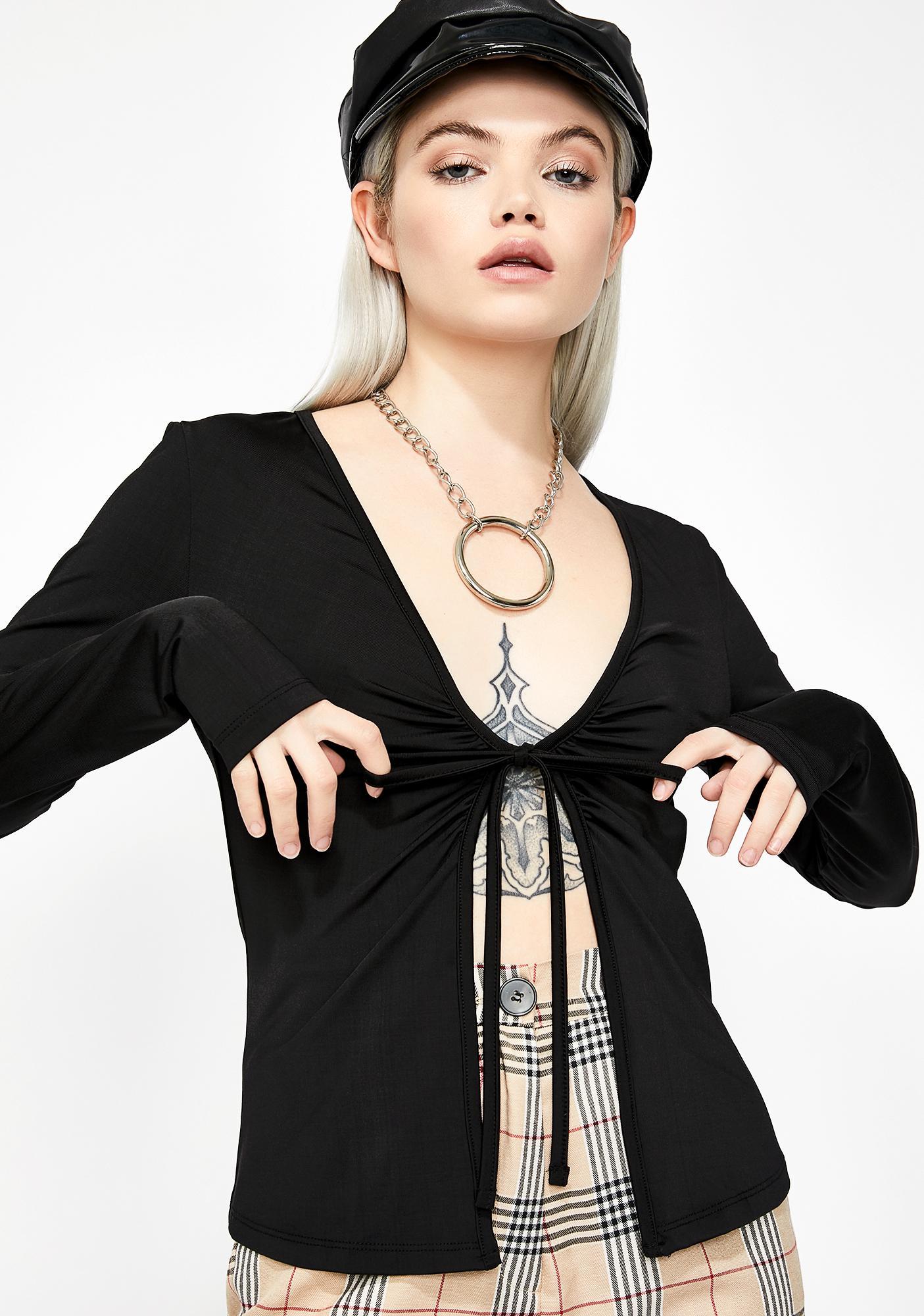 Kiki Riki Devil's Angel Tie Blouse