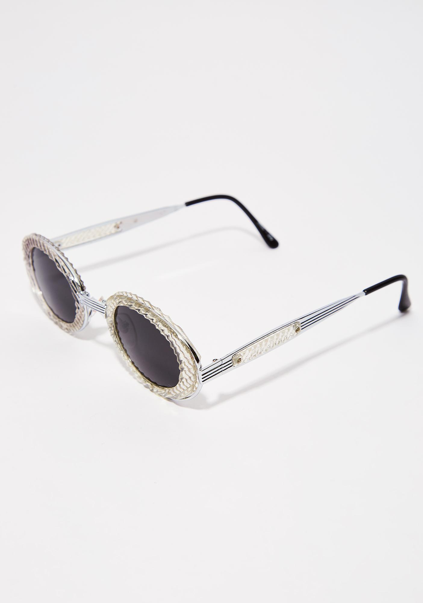 Silver Medal Oval Sunglasses