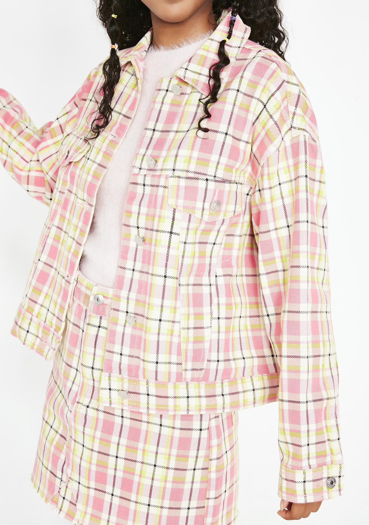Momokrom Cropped Plaid Jacket