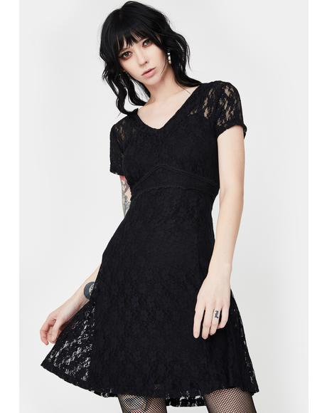 Lace Overlay Dress