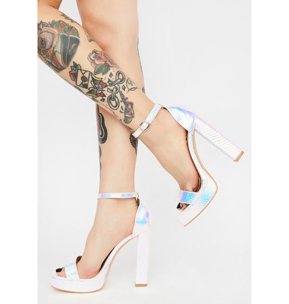 Make An Entrance Holographic Heels