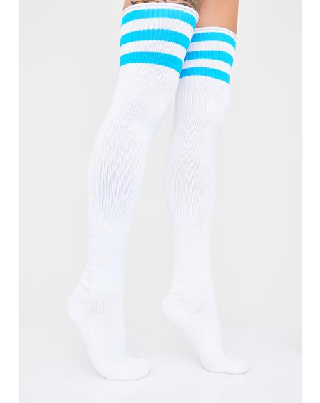 Ice Princess Thigh High Socks